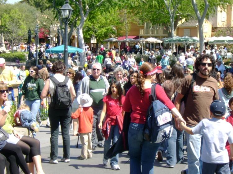 Disney throng